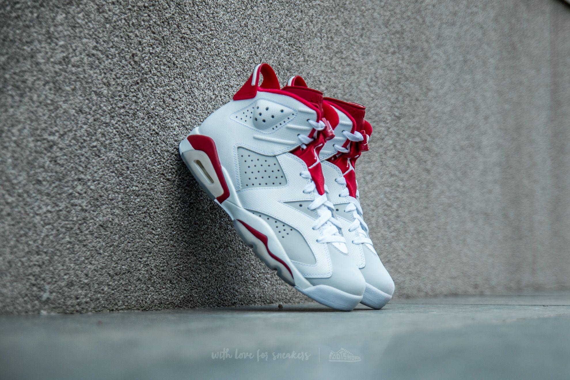 0a42cb730857 Air Jordan 6 Retro White  Gym Red-Pure Platinum