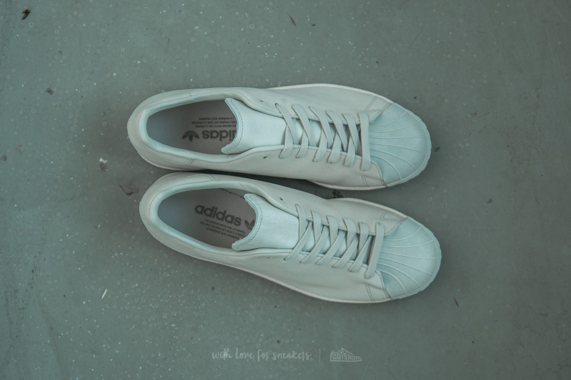 adidas Superstar 80s Clean Crystal White Crystal White Off