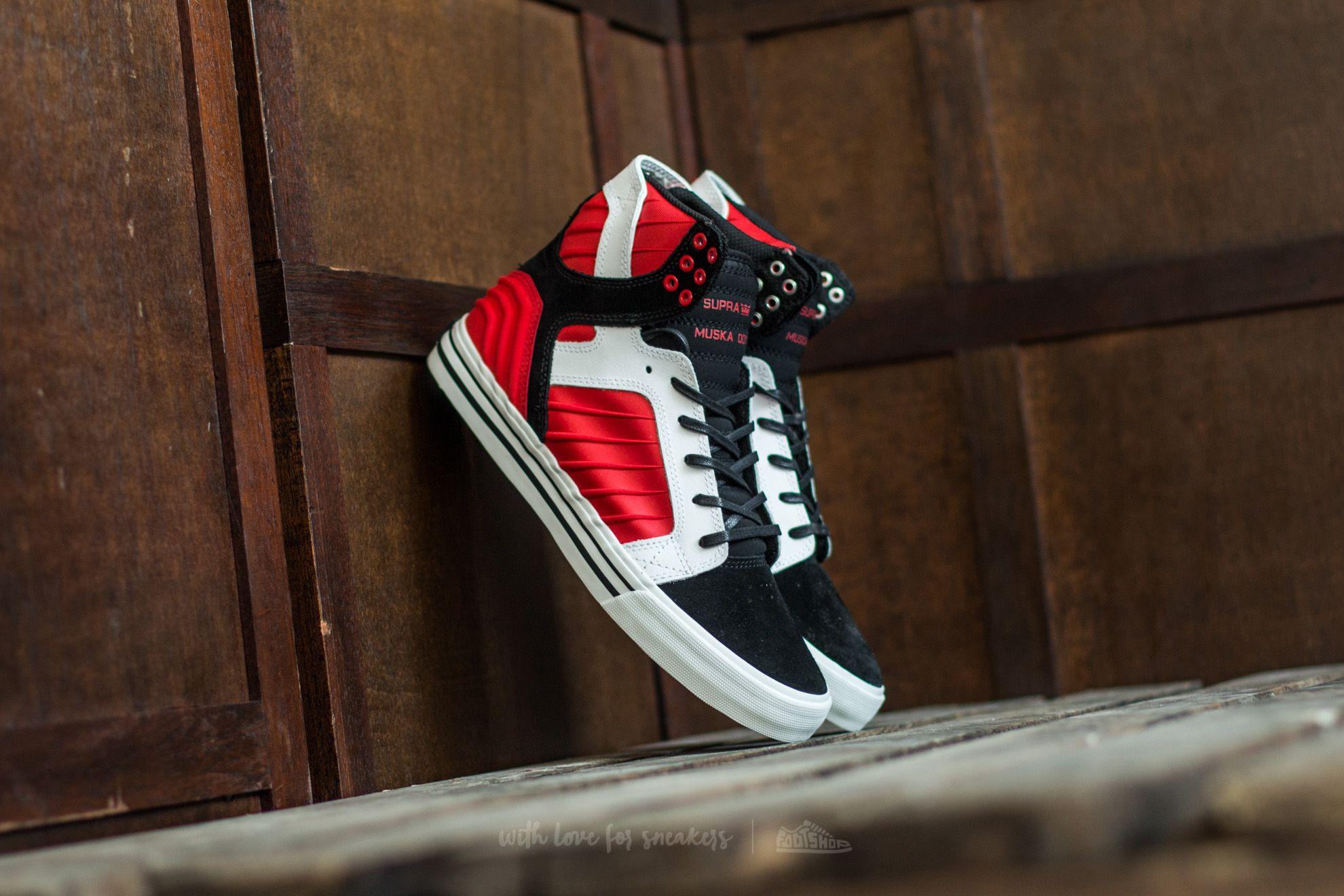 993a5fd50d25 Supra Skytop Evo Black  Red-White