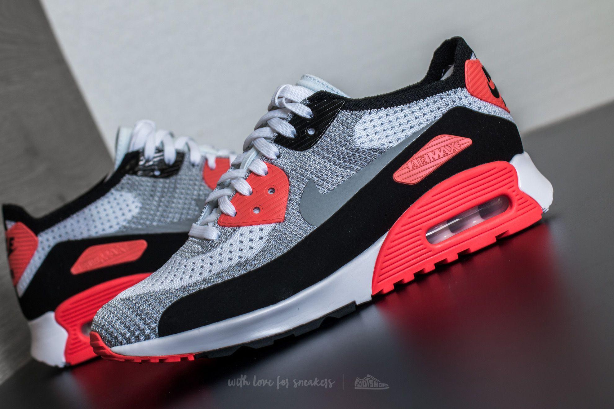 Nike Air Max 90 Ultra 2.0 Flyknit Black Bright Crimson | Footshop