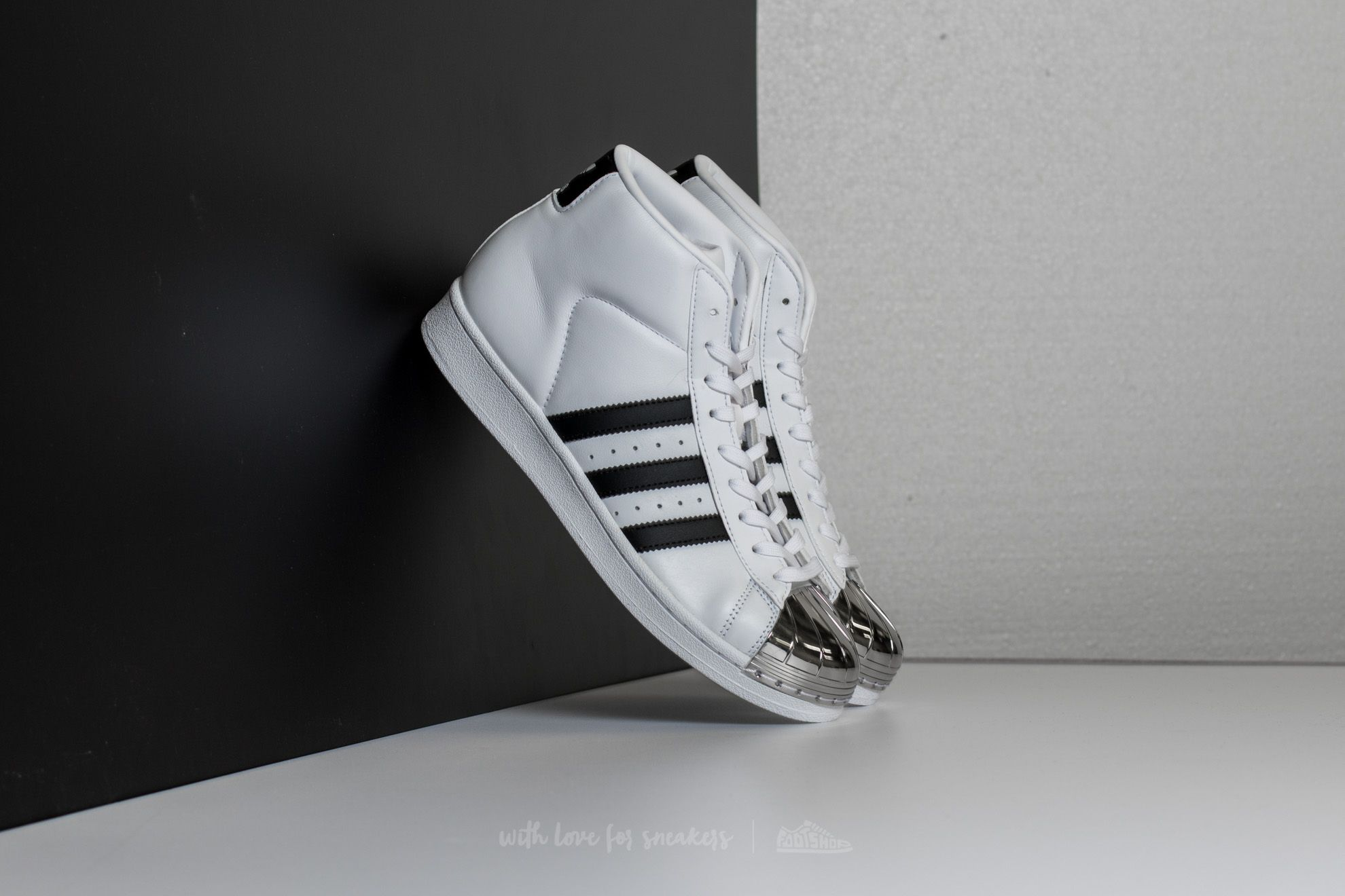 adidas Promodel Metal Toe W Ftw White Core Black Gold Metallic | Footshop
