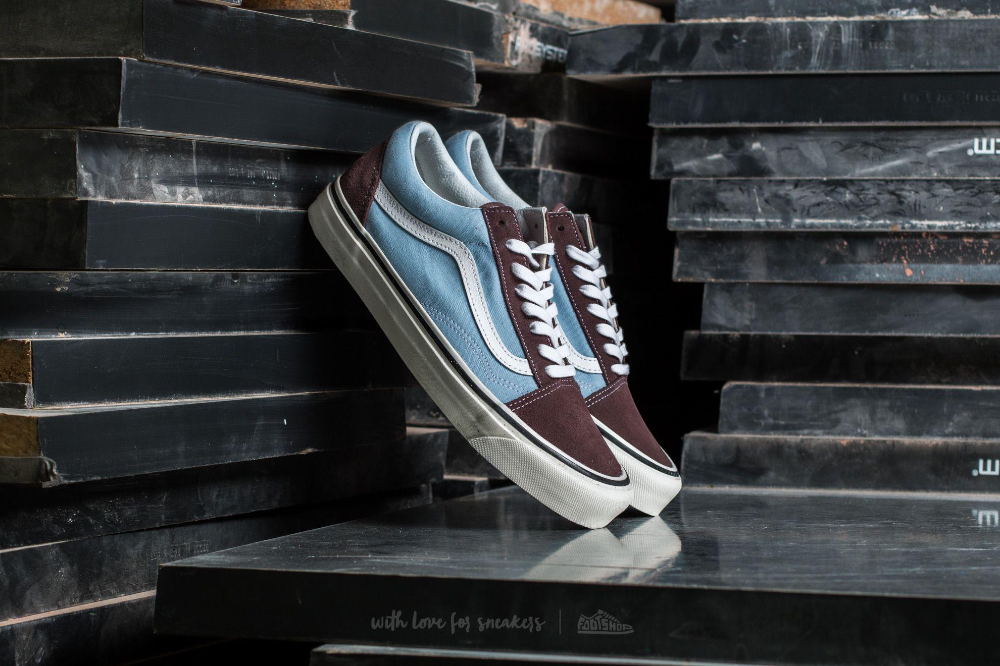 b1562e96413 Vans Old Skool 36 DX (Anaheim Factory) Brown  Light Blue