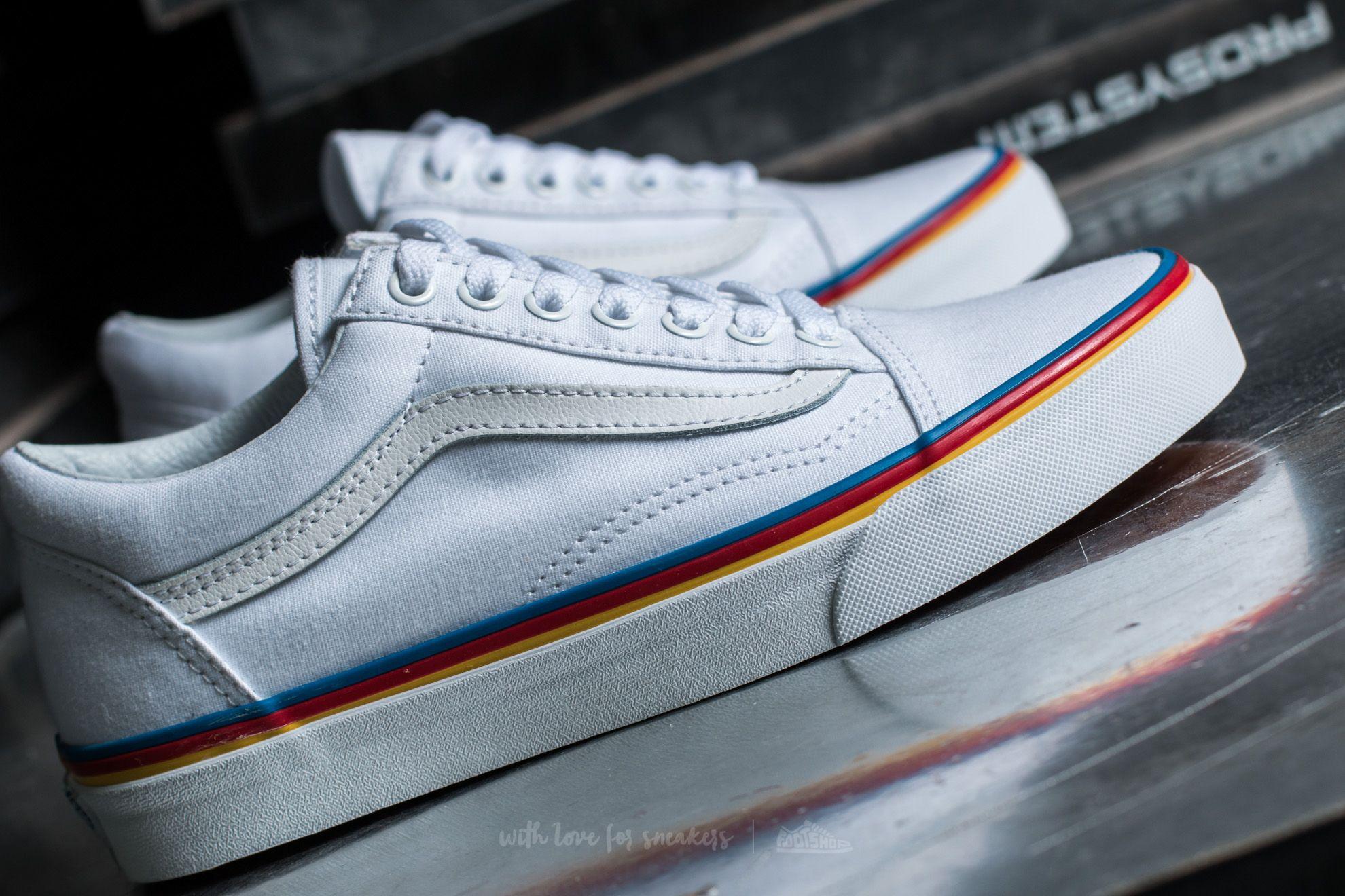 Vans Old Skool Rainbow Foxing True White | Footshop