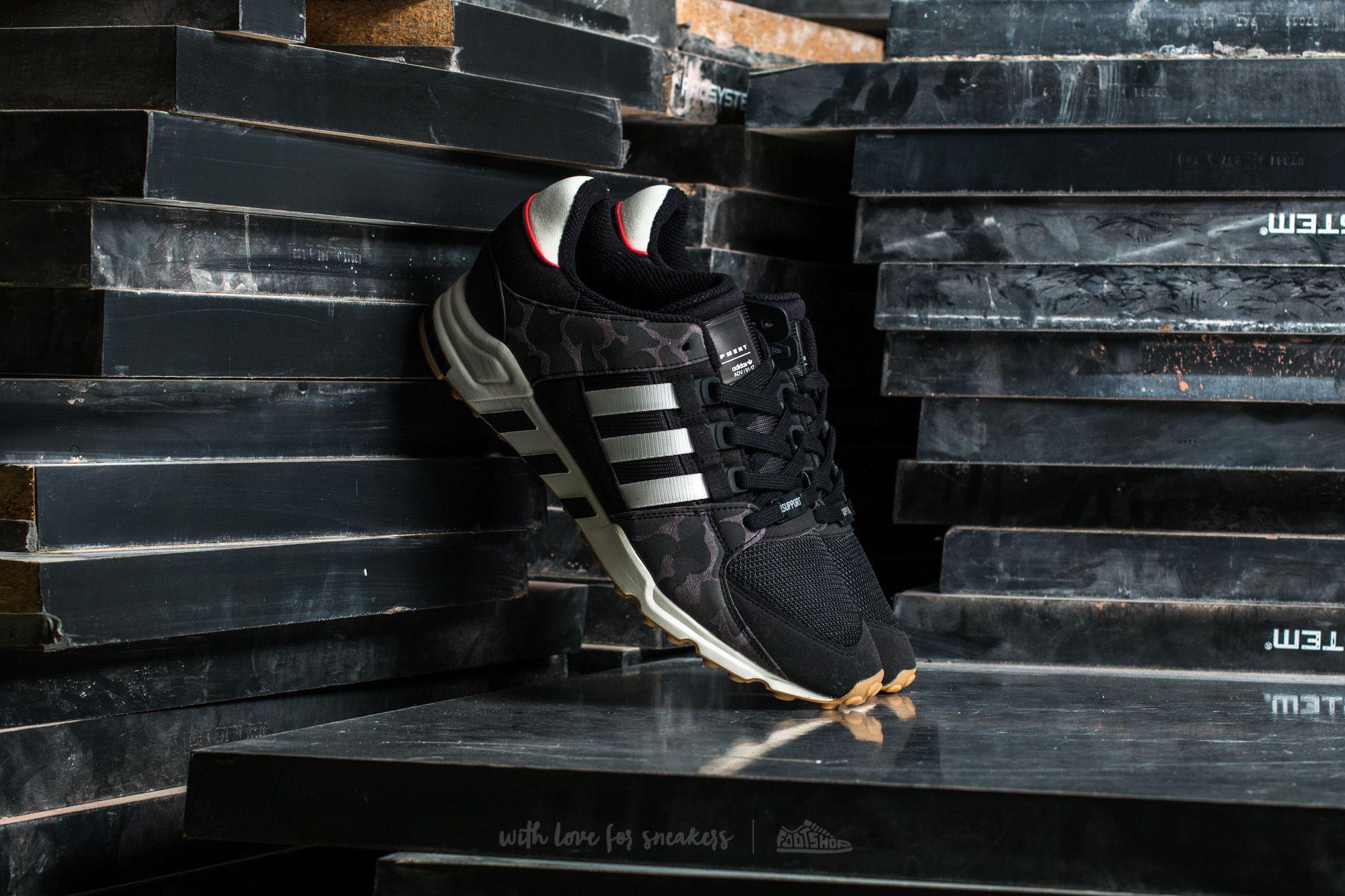adidas EQT Support RF Core Black/ Off White/ Core Black | Footshop