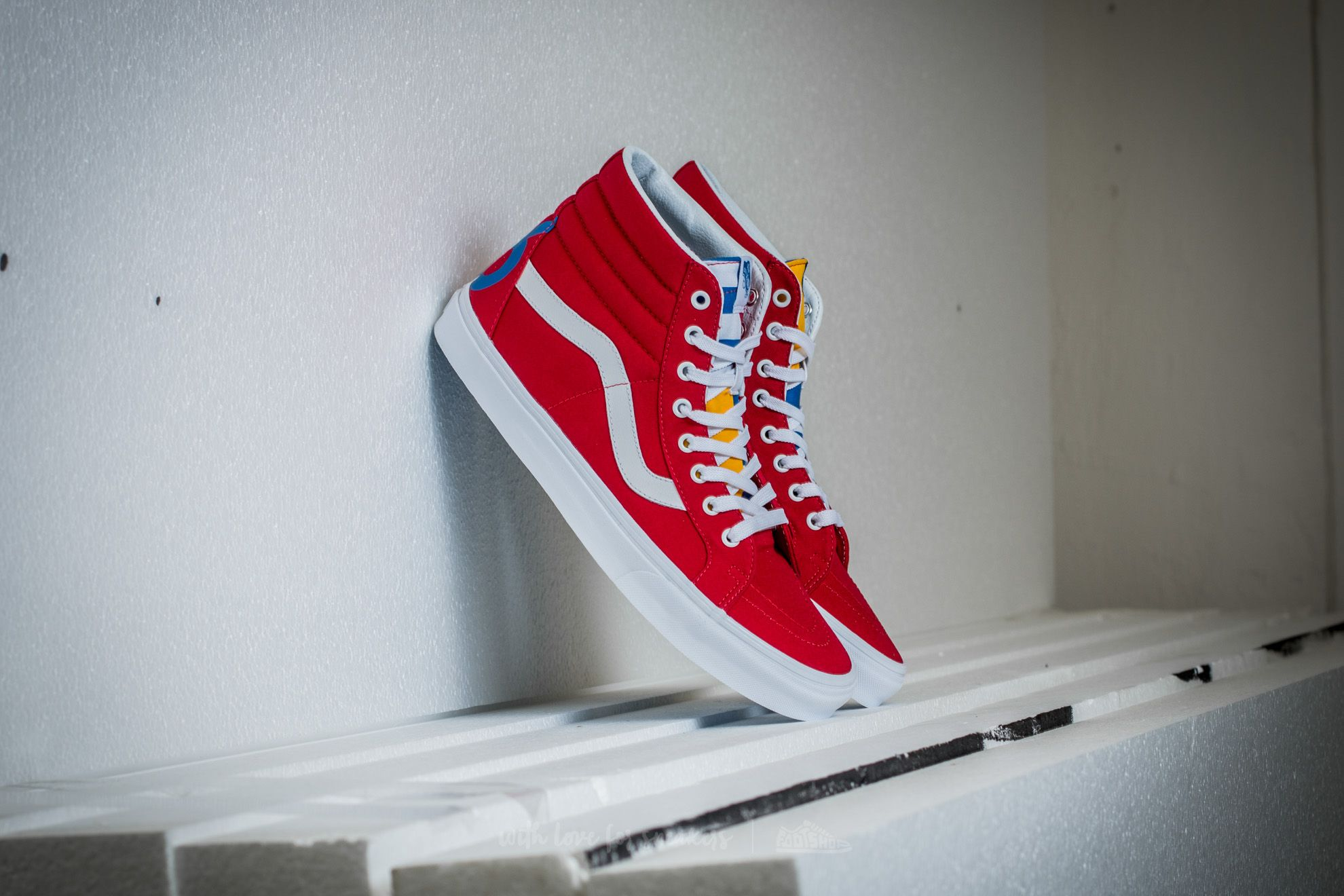 ccf4a2bc29c Vans Sk8-Hi Reissue (1966) Red  Blue  True White