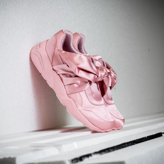 online retailer 287b8 dc2be Puma Fenty x Rihanna Bow Sneaker Womens Silver Pink ...