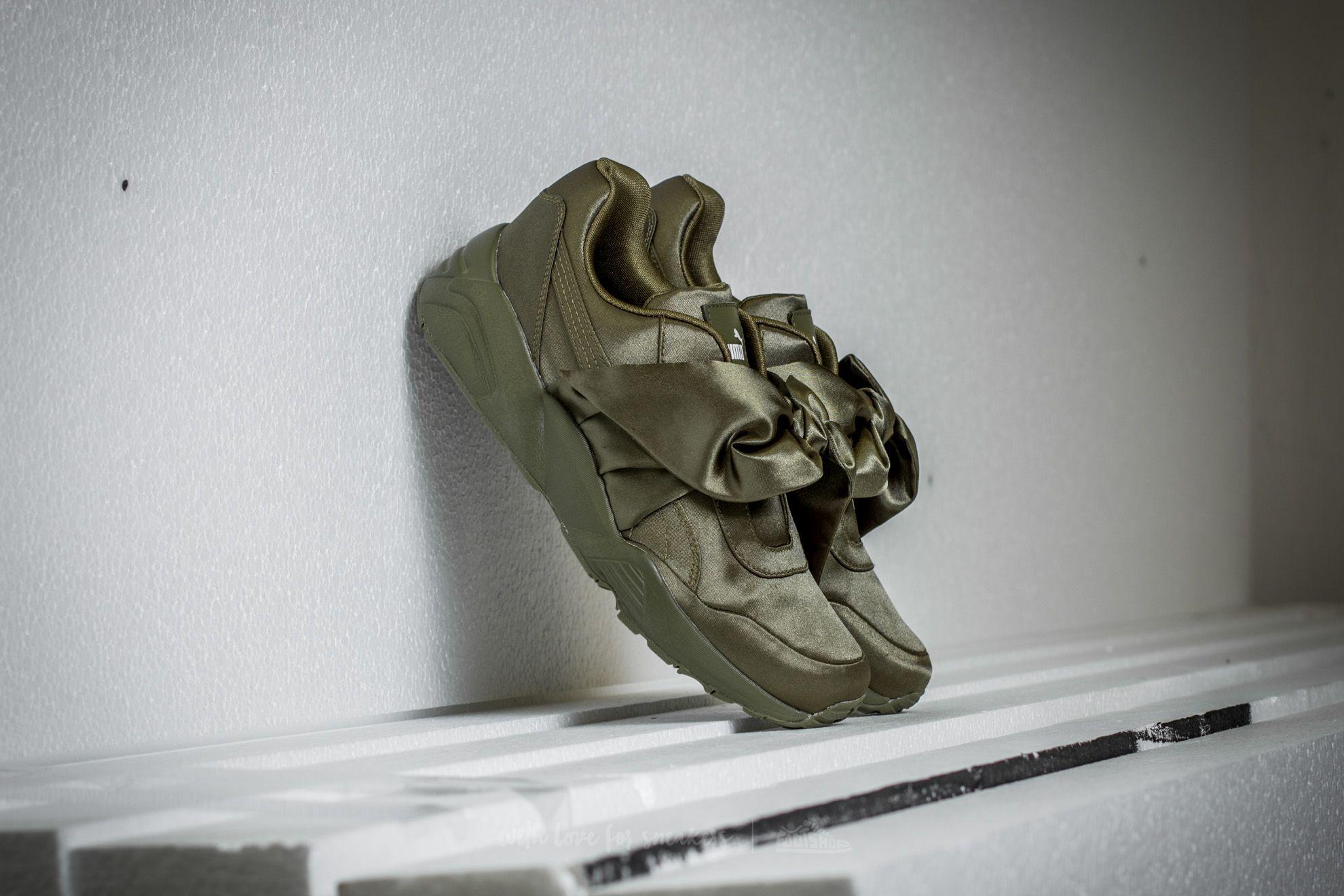 45480faa843 Puma Fenty x Rihanna Bow Sneaker Womens Olive Branch-Olive-Olive ...