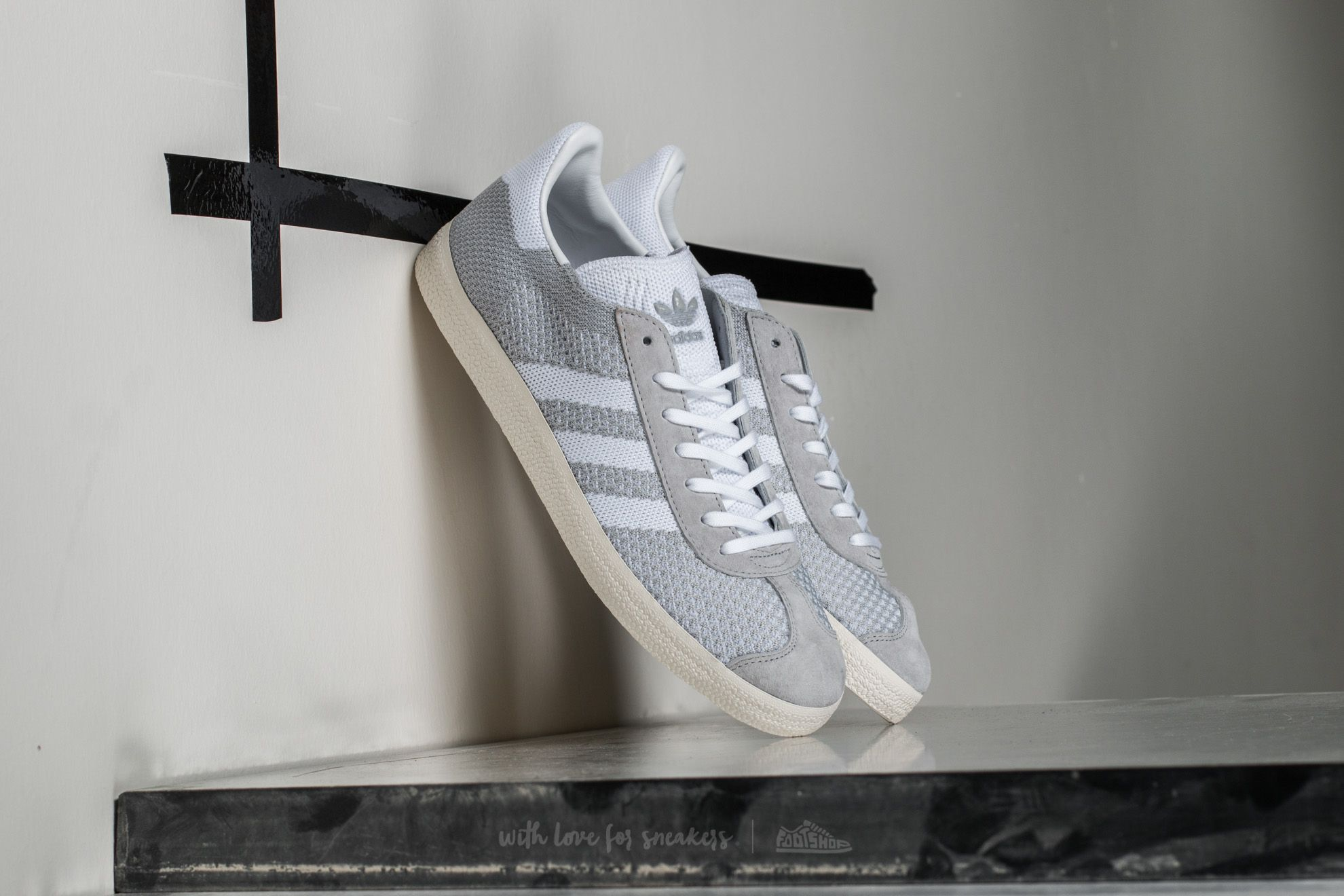 new concept 26a5e 8ae67 adidas Gazelle Primeknit. Clear Onix Ftw White ...