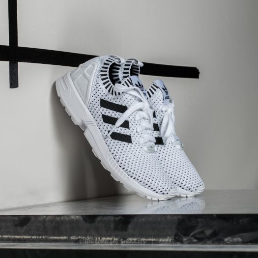 more photos 21009 8d6b1 adidas ZX Flux Primeknit Ftw White/ Core Black/ Core Black ...