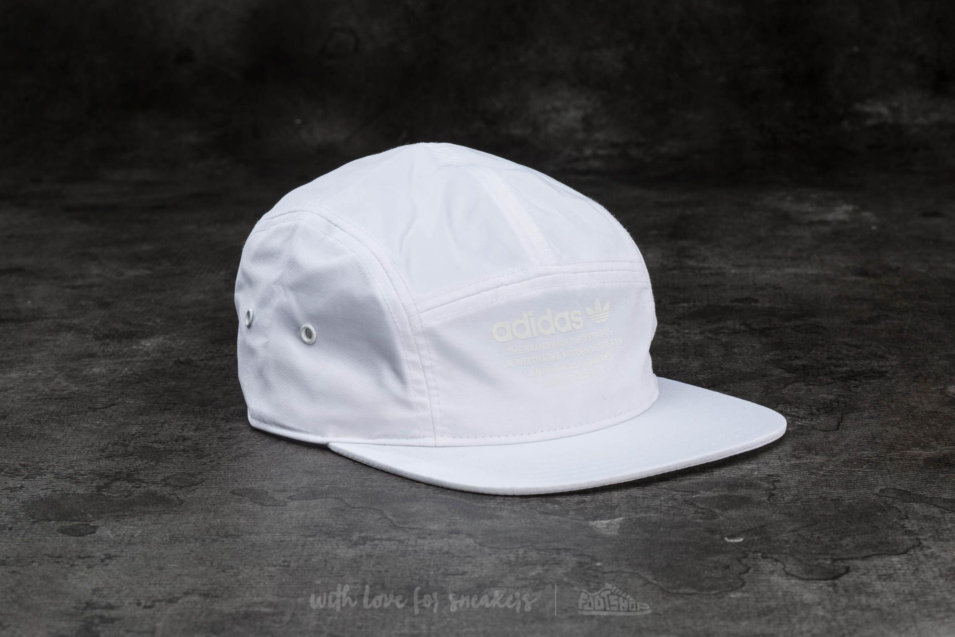 promo code 9593a 45a1b adidas NMD 5 Panel Cap White