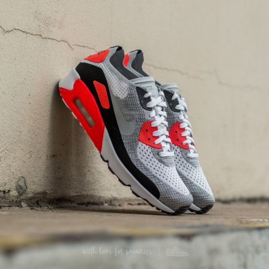 outlet store 1fbea 4790e Nike Air Max 90 Ultra 2.0 Flyknit White/ Wolf Grey-Bright Crimson | Footshop