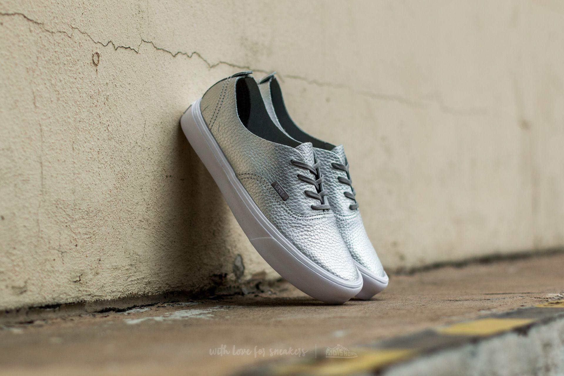 Vans Authentic Decon (Leather) Silver | Footshop