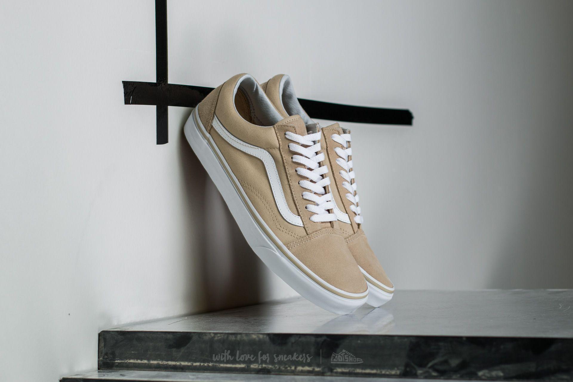 Vans Old Skool Pale Khaki  True White  ed2011395