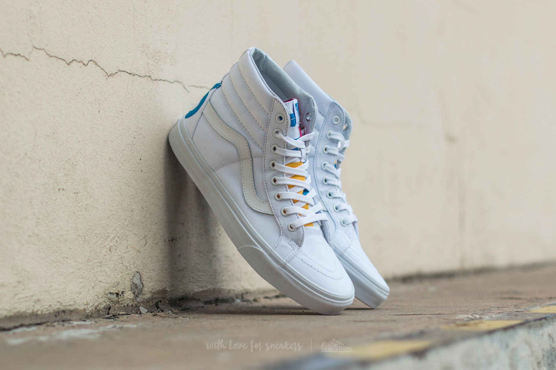 541e10412c0 Vans Sk8-Hi Reissue (1966) True White  Blue  Red