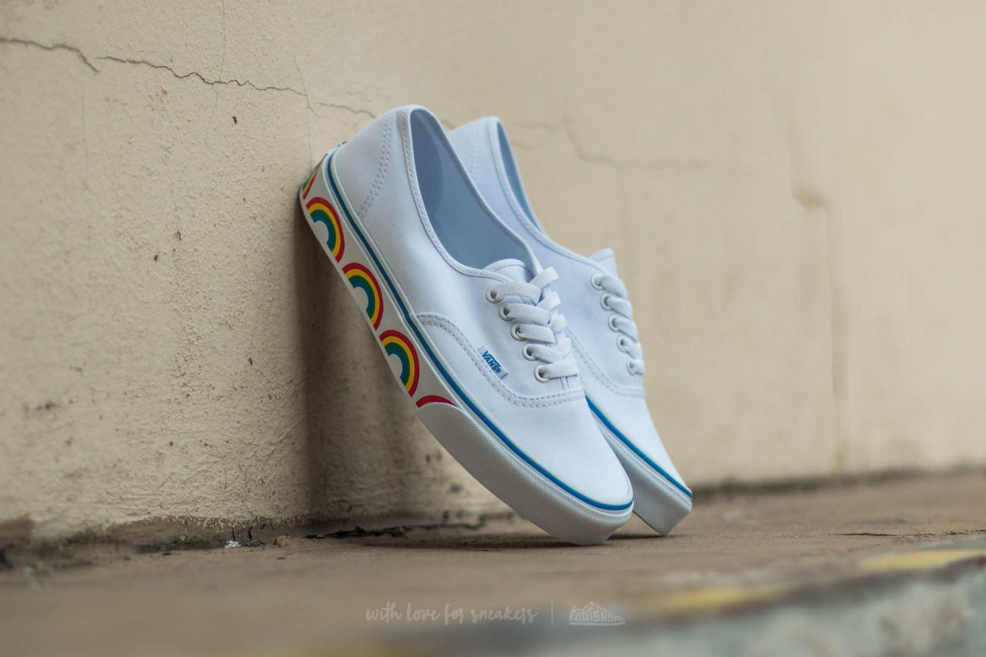 233f53e86982 Vans Authentic (Rainbow Tape) True White | Footshop
