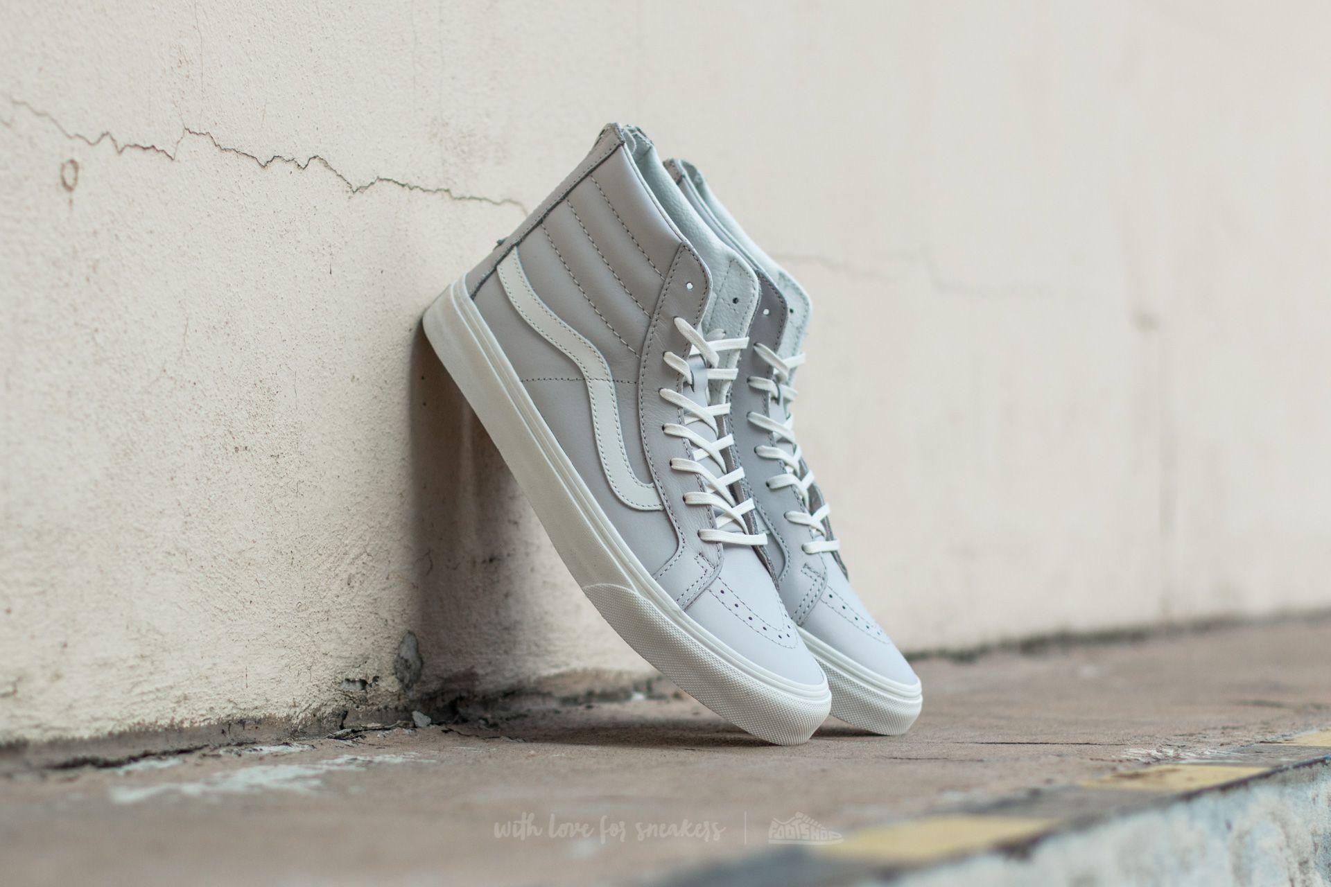 436c370366b33 Vans Sk8-Hi Slim Zip (Leather) Wind Chime  Blanc De Blanc