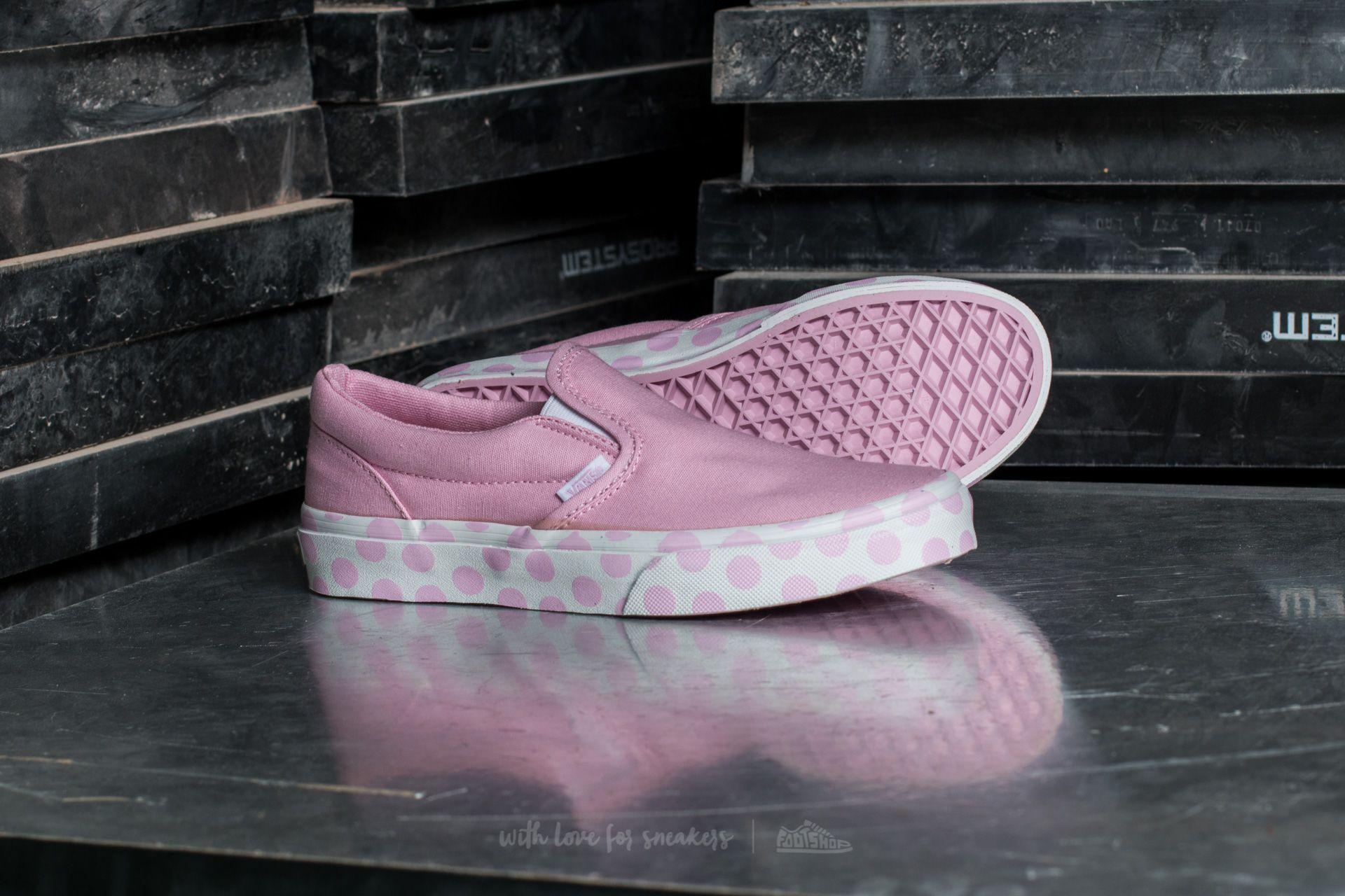 Vans Classic Slip-On (Polka Dot) Pink Lady  True White za skvělou 6bef64b029