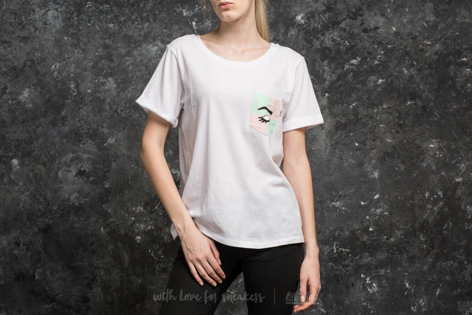 26bc6df435 Vans x Kendra Dandy Mod Eye Pocket Tee White