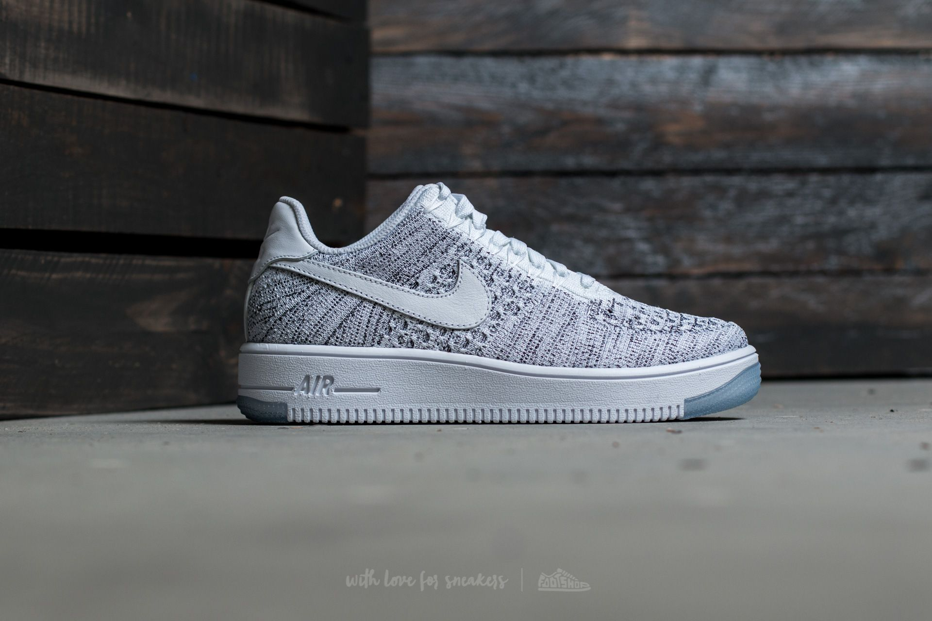 new styles 3b1e9 ad985 Nike W Air Force 1 Flyknit Low White/ White-Black | Footshop