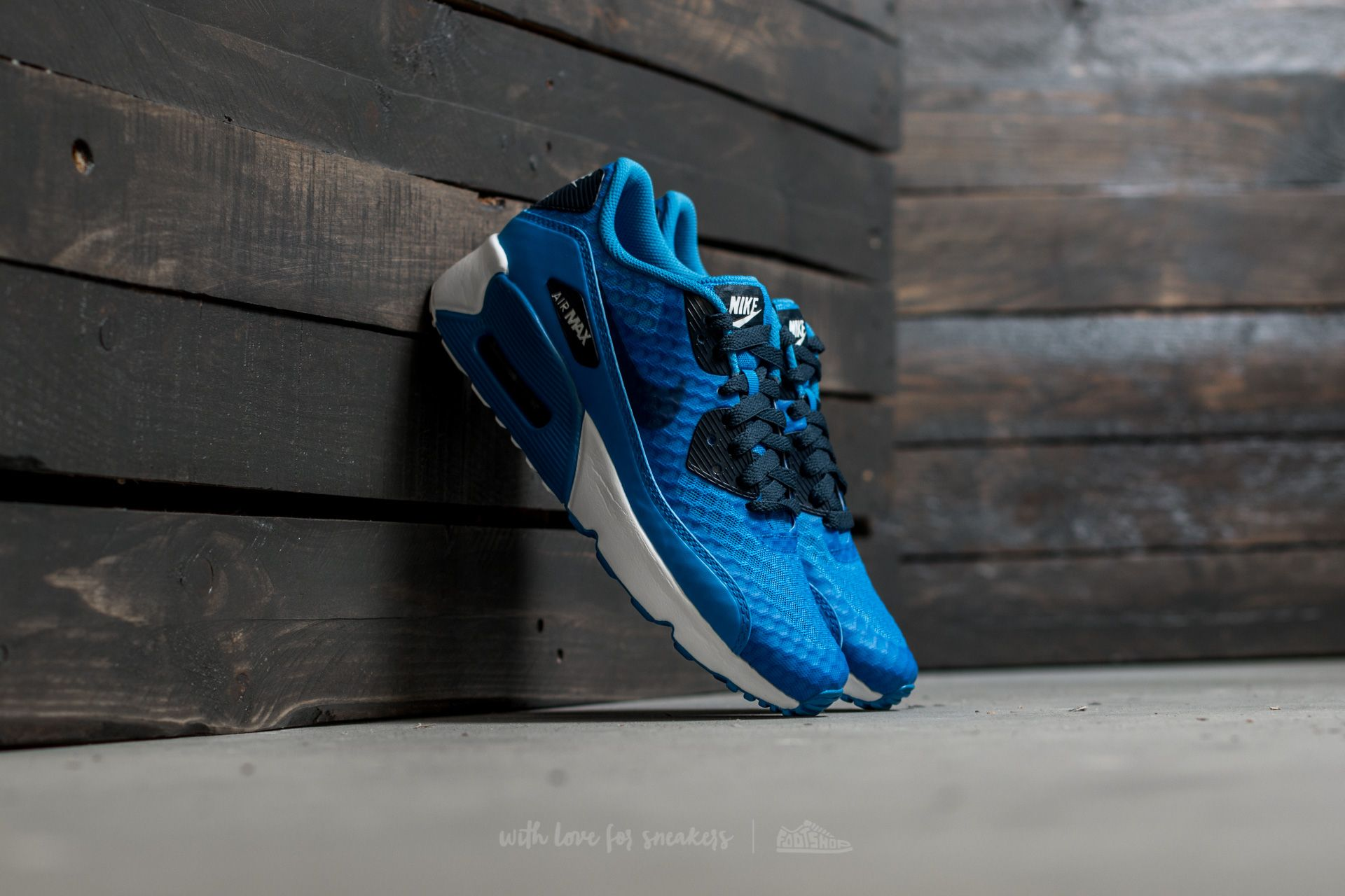 907e39d99b2c Nike Air Max 90 Ultra 2.0 BR (GS) Photo Blue  Armory Navy-White ...