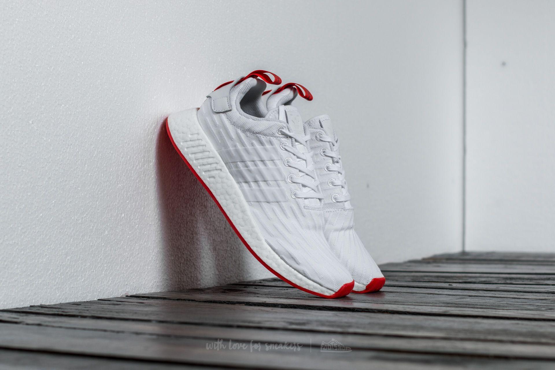 c5e7de2624f2e adidas NMD R2 Primeknit Ftw White  Ftw White  Core Red
