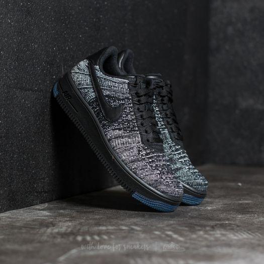 size 40 b40e0 badae Nike W Air Force 1 Flyknit Low Black/ Black-White | Footshop