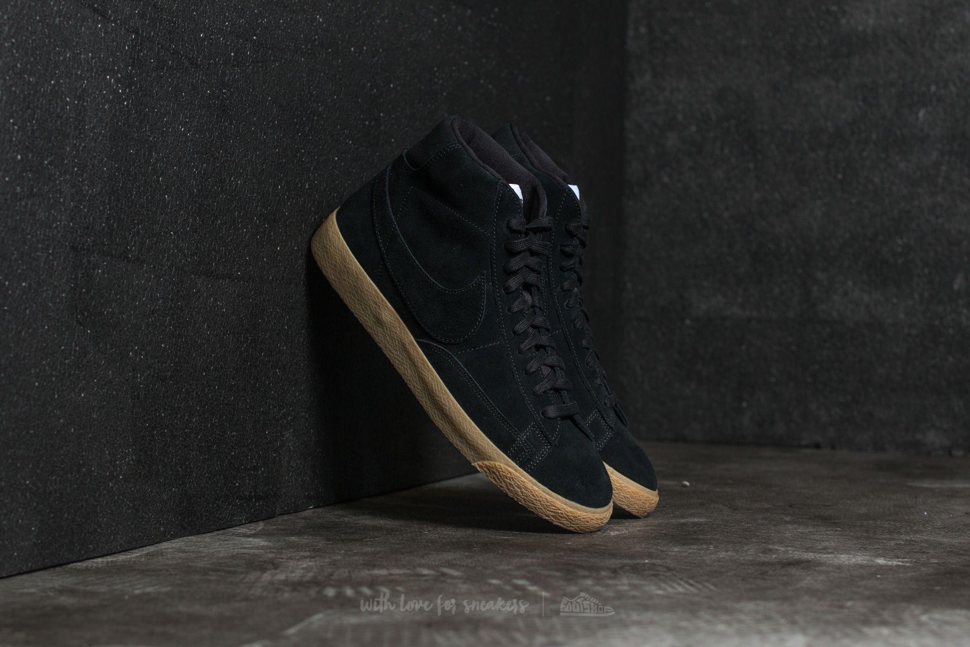 barro Gracias Marchitar  Men's shoes Nike Blazer Mid Premium Black/ Black-Gum Light Brown   Footshop