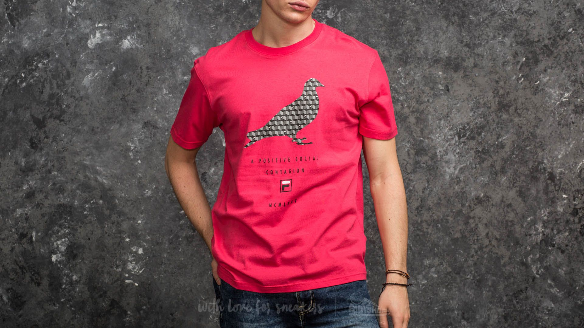 5951cfb889a9 Staple x FILA Pigeon Fill Tee Red