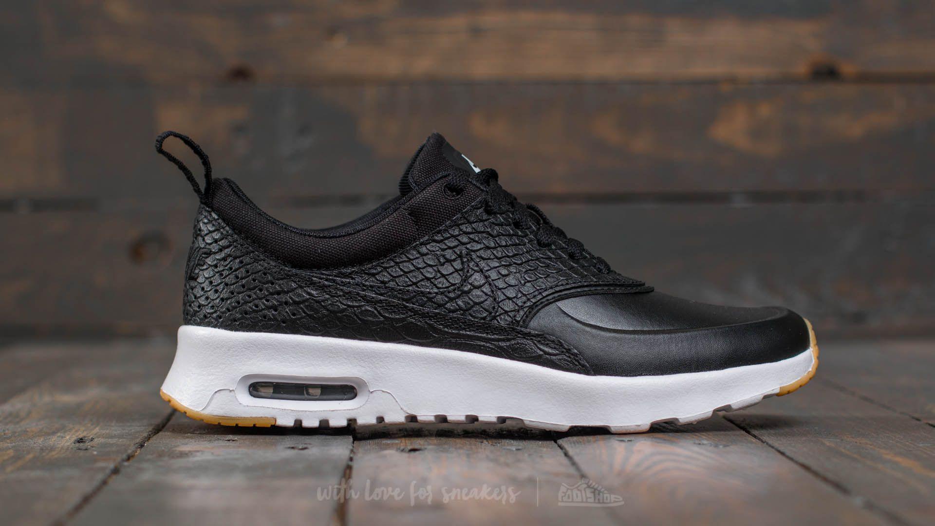 Nike Wmns Air Max Thea Premium Black Black Gum Yellow White