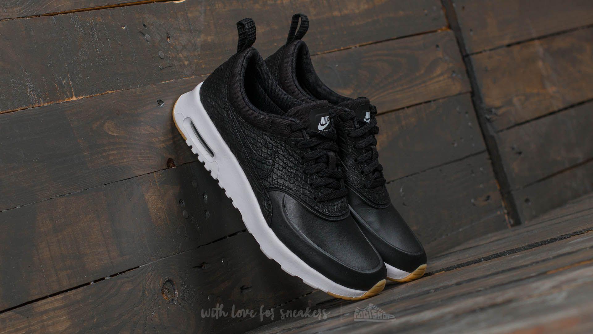 b2d1fcbb55 Nike Wmns Air Max Thea Premium Black/ Black-Gum Yellow-White ...