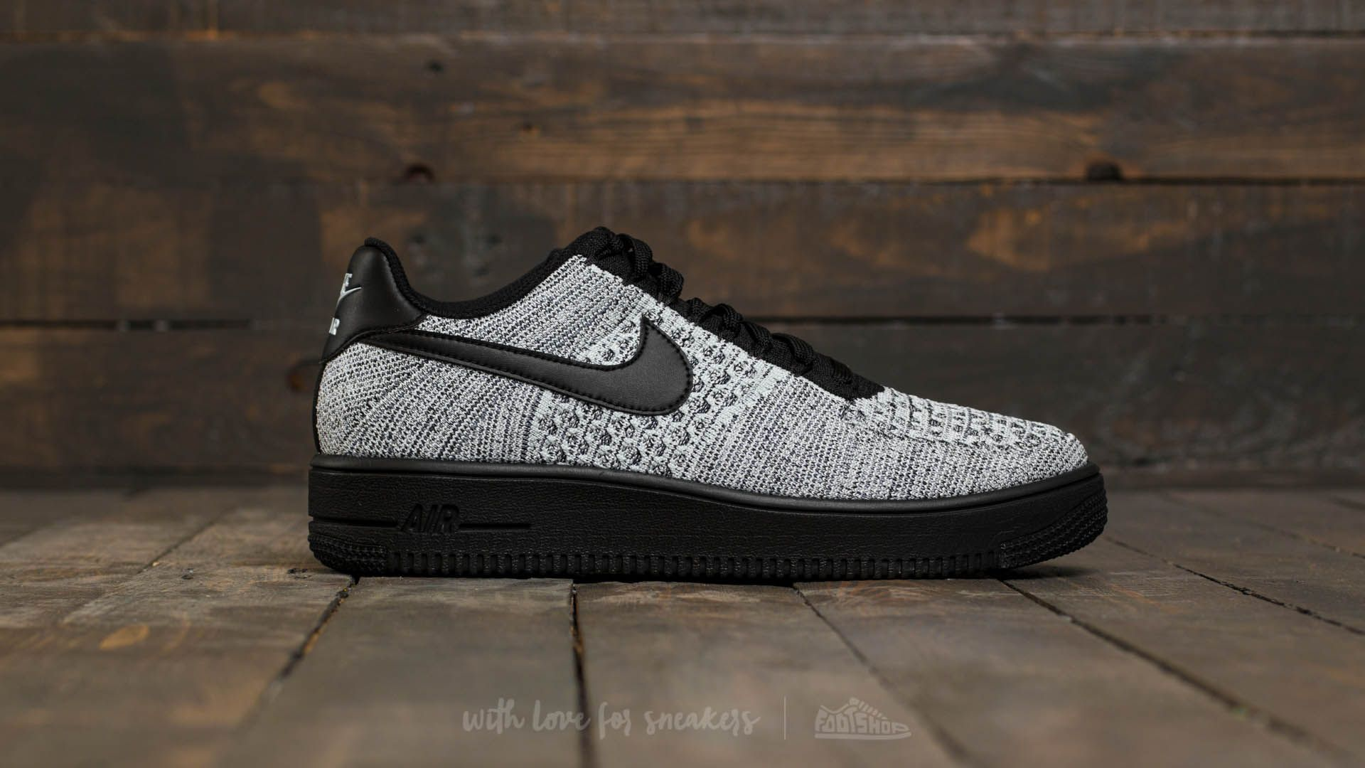 Nike Air Force 1 Ultra Flyknit Low Glacier Blue Black White | Footshop