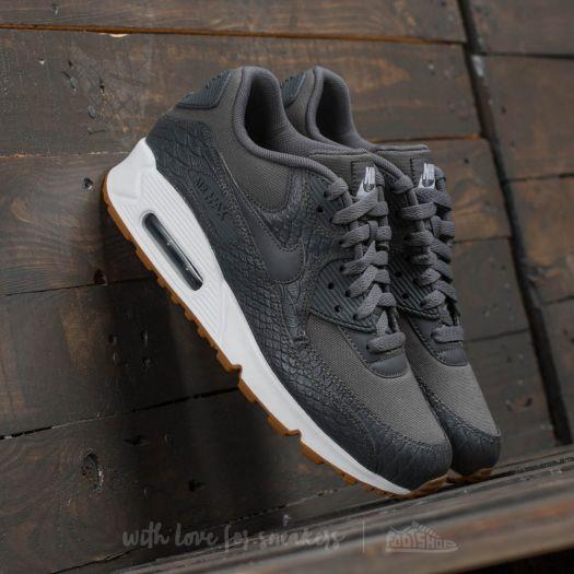 Nike Wmns Air Max 90 Premium Dark Grey  Dark Grey-Gum Yellow  498c83107e5f
