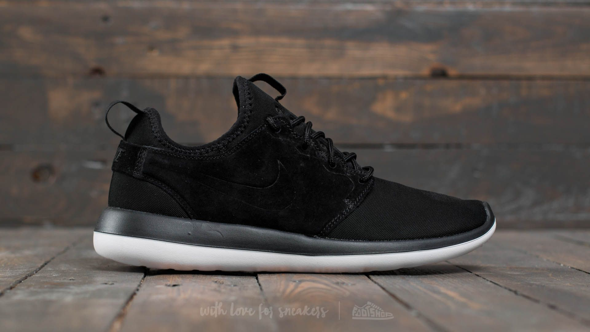 Nike Roshe Two BR Black/ Black-White | Footshop