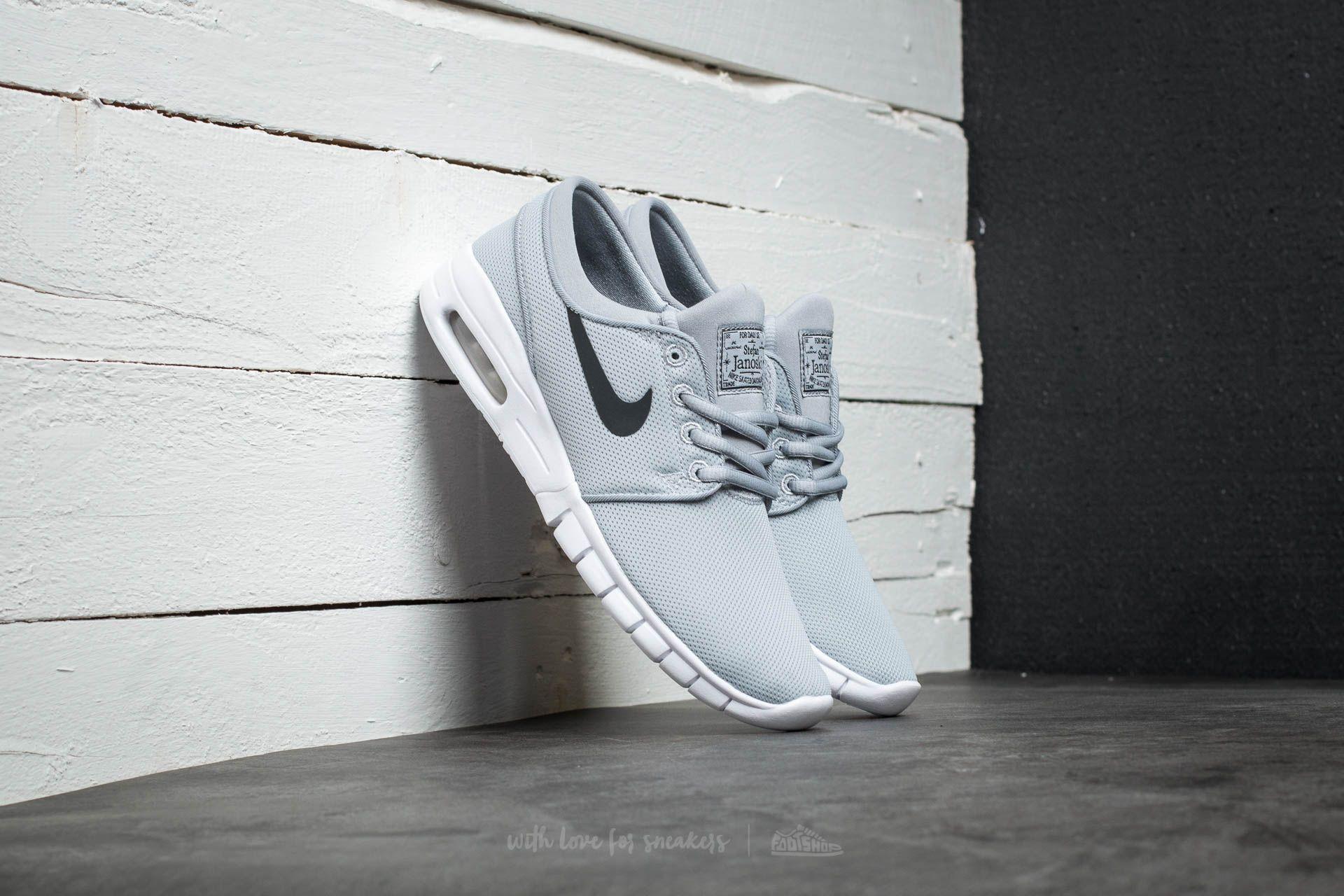 1487a04967 Nike Stefan Janoski Max (GS) Wolf Grey  Black-White