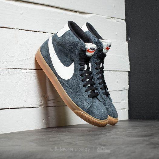 Nike Wmns Blazer Mid Suede Vintage Black Sail Gum Yellow Sail | Footshop