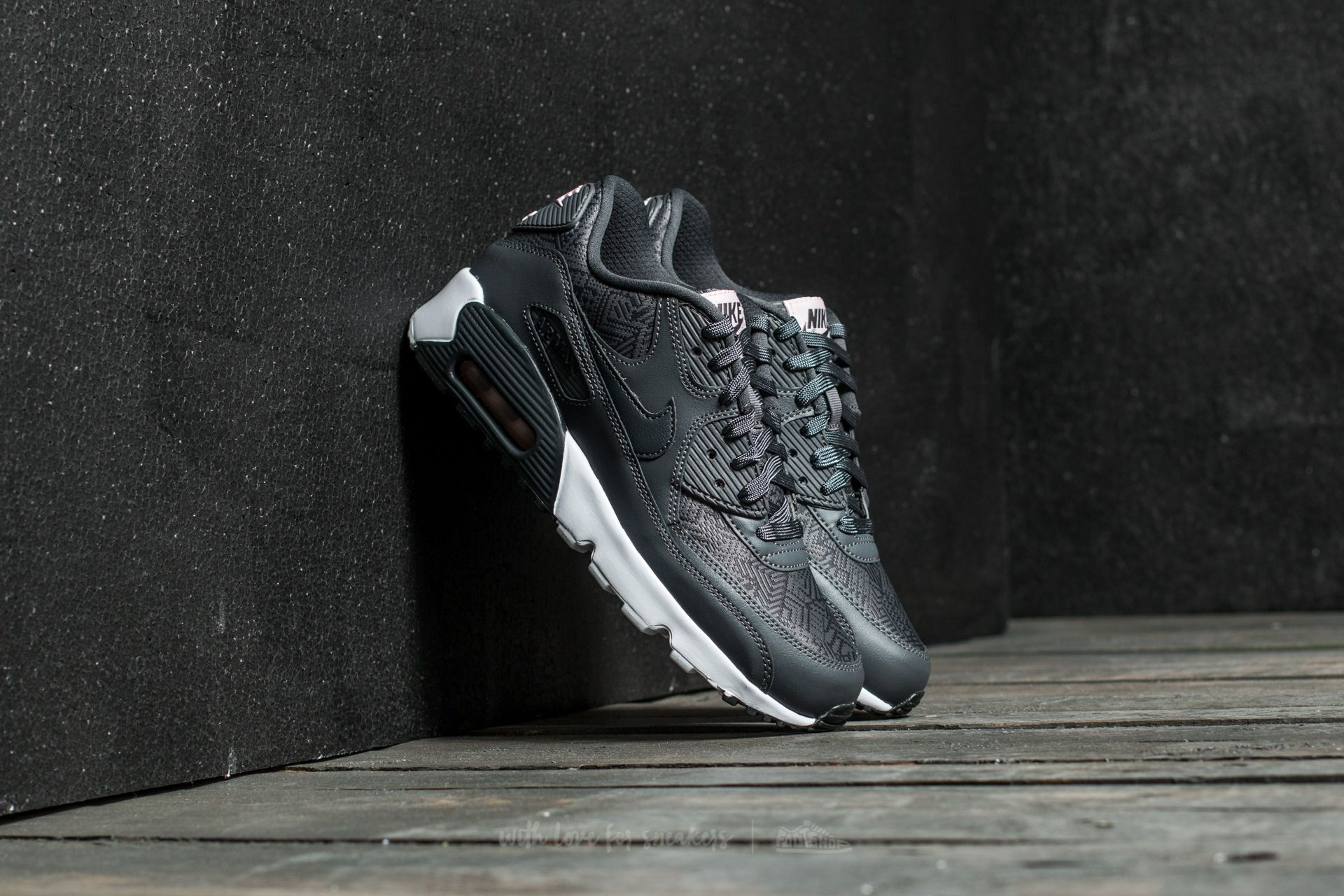 b182c90156d136 Nike Air Max 90 Se Mesh (GS) Dark Grey  Anthracite-White