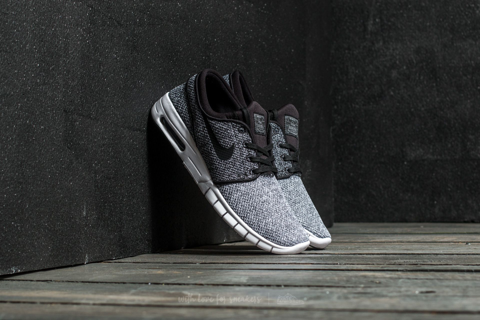 on sale a40ef 50269 Nike Stefan Janoski Max. White  Black-Dark Grey