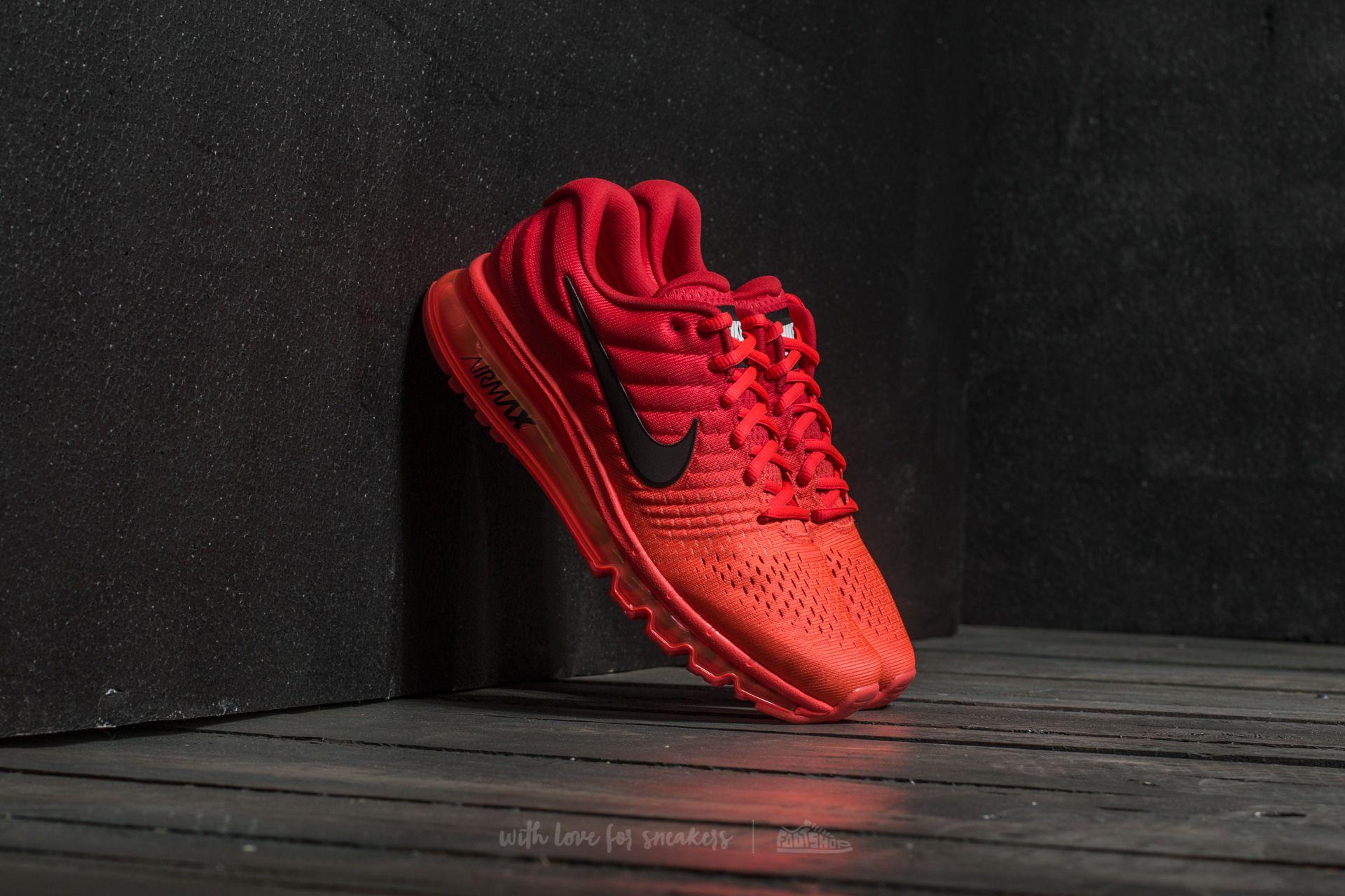 Nike Air Max 2017 Bright Crimson Black   Footshop