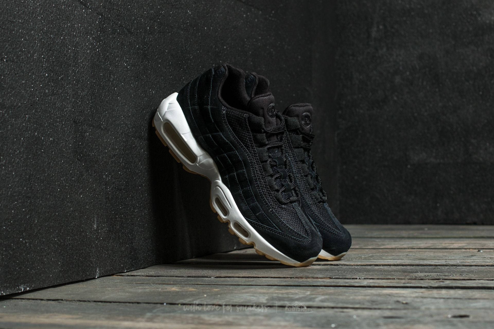 official photos 758e8 f36ed Nike Air Max 95 Premium. Black  Black-Muslin-White