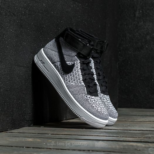 reputable site 085a5 08c4b Nike Air Force 1 Ultra Flyknit MID Black/ Black-White | Footshop