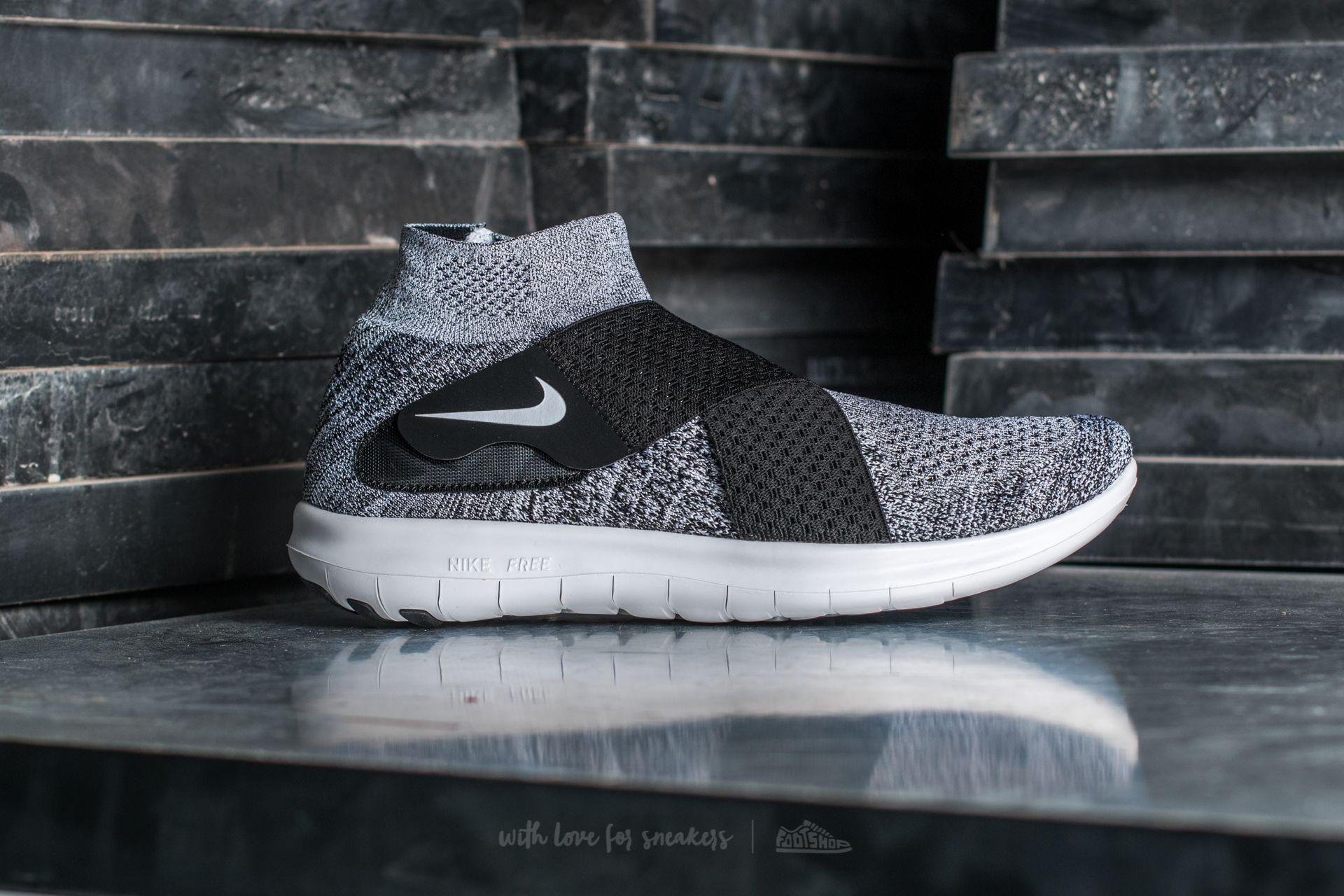 e15d8f33d24db Nike Free Run Motion Flyknit 2017 Black/ White-Pure Platinum | Footshop