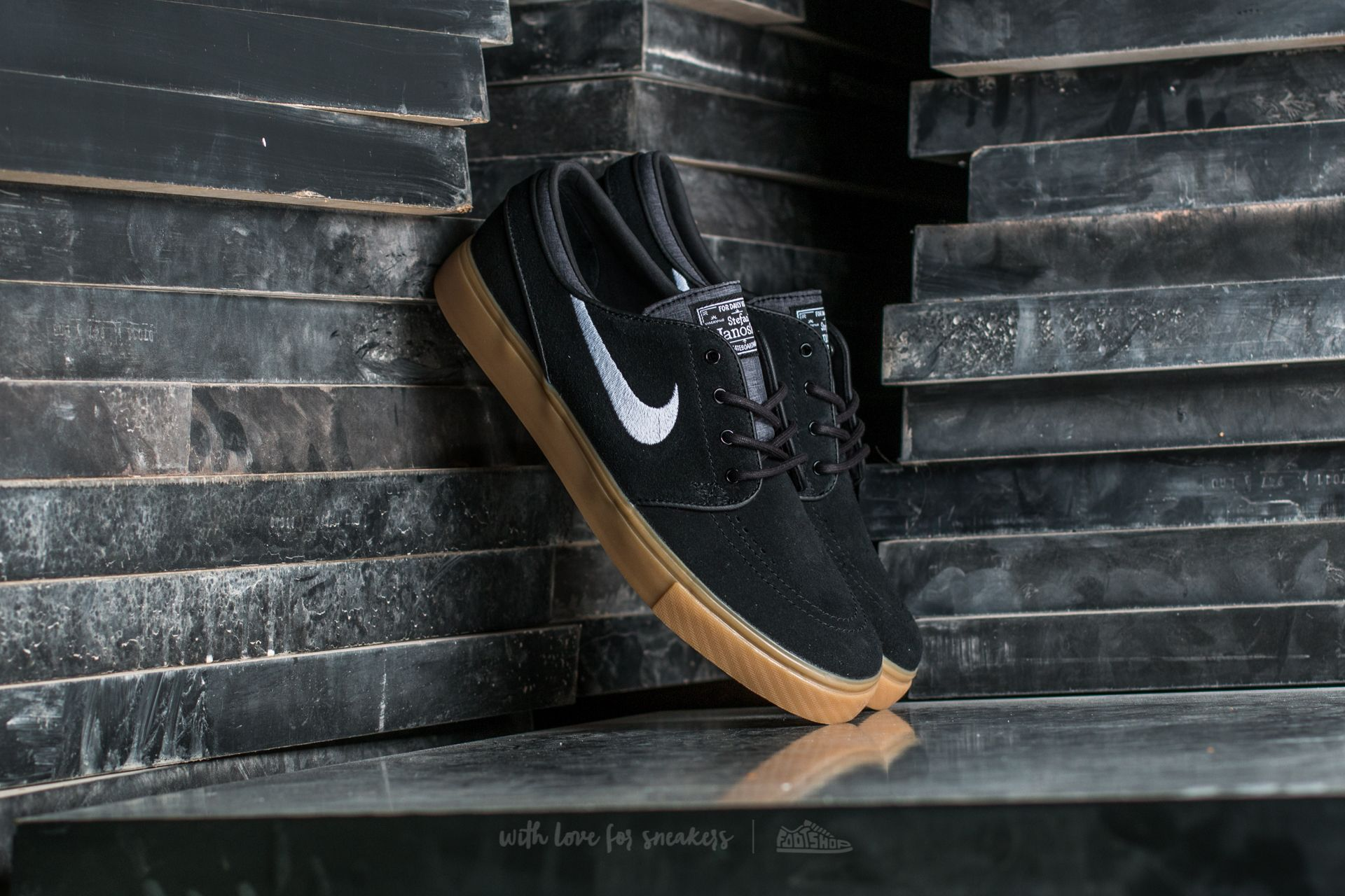 Nike Zoom Stefan Janoski Black/ White-Gum Light Brown