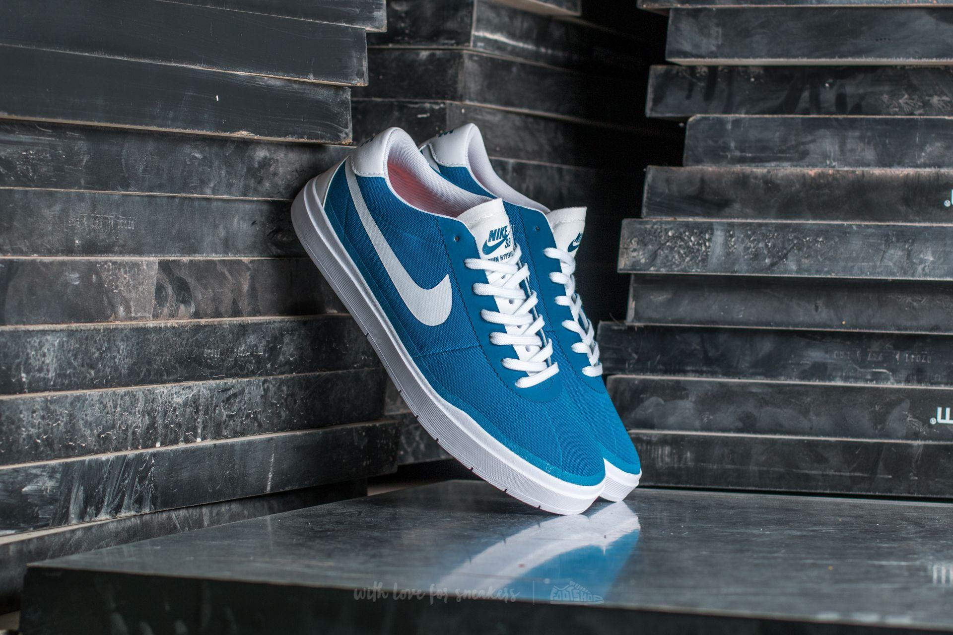 Nike SB Bruin Hyperfeel CNVS Industrial Blue  White-White  935787a57