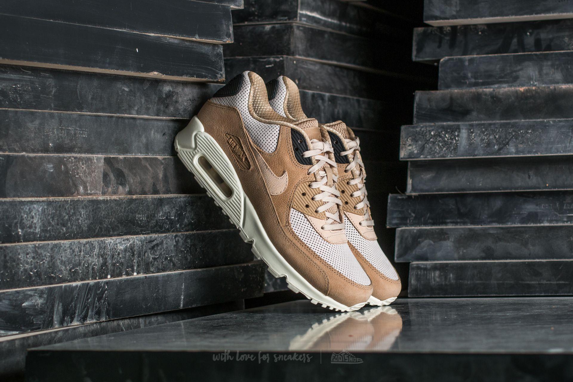 Nike Air Max 90 Pinnacle Leather Sneakers in Light Bone
