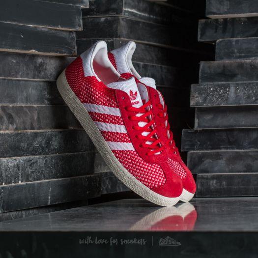 adidas Gazelle Primeknit Scarlet Ftw White Chalk White