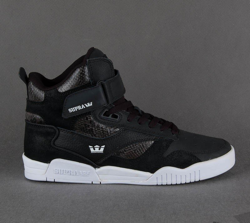 Supra Bleeker Black/Snake-White