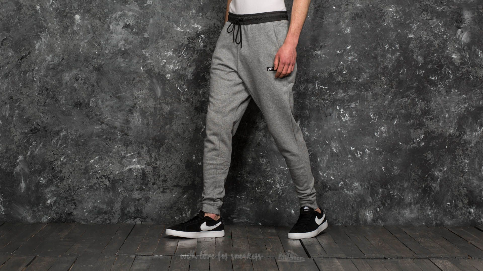 51bffdedaee0 Nike Sportswear Modern Fitted Joggers Carbon Heather  Black ...