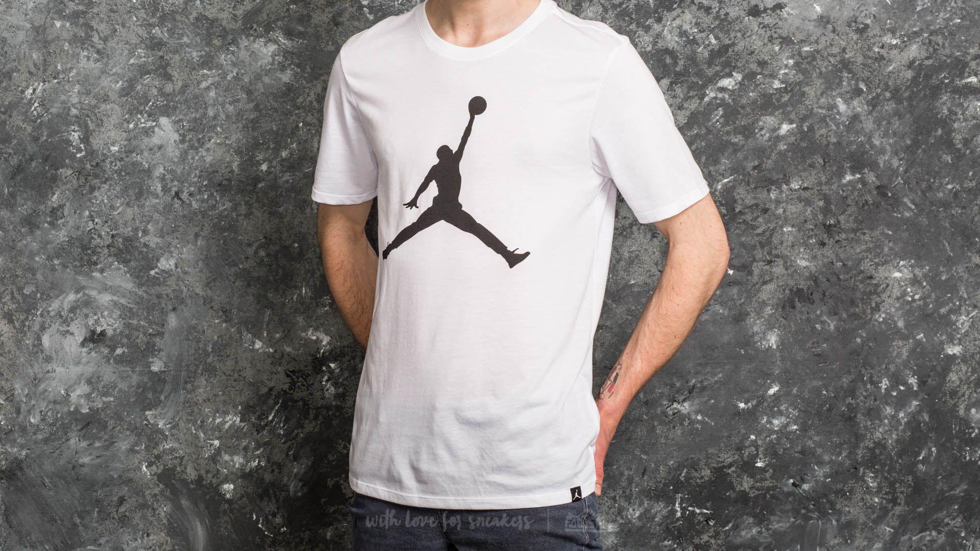 a4a17941c829 Jordan Sportswear Iconic Jumpman Logo Tee White  Black