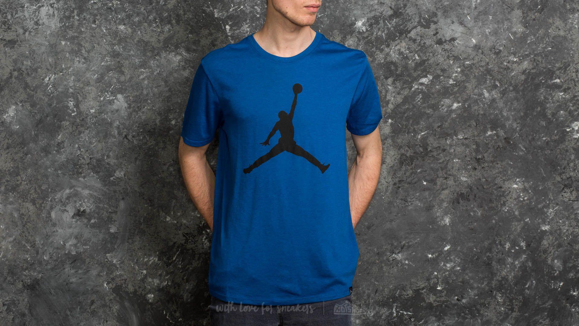 Jordan Sportswear Iconic Jumpman Logo Tee Blue  Black  ae52934e090