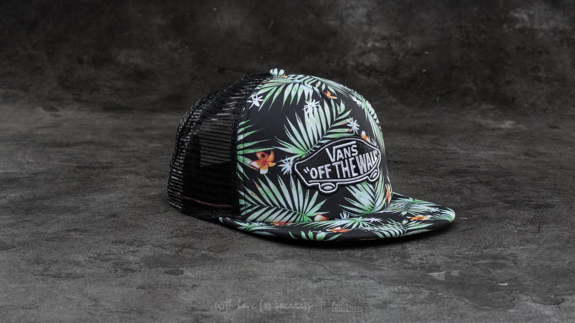 676a72ef784 Vans Classic Patch Trucker Black Decay Palm
